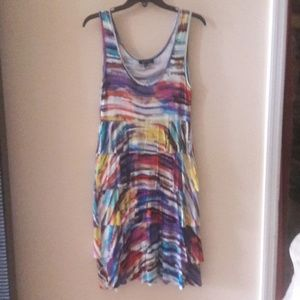 Multi Color Sleeveless Dress